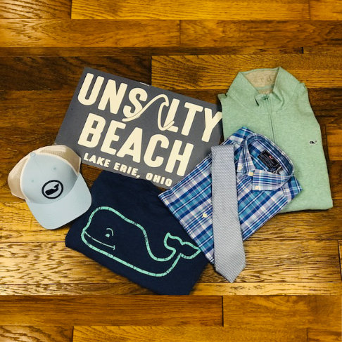 Unsalty Beach Mens shirts display